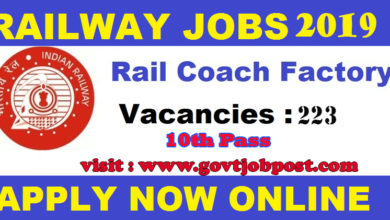 Photo of Rail Coach Factory Recruitment 2019: 223 Apprentice Posts