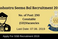 Photo of SSB Recruitment 2019: 290 Constable (GD) Posts