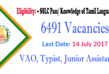 Photo of TNPSC Group 4 Recruitment 2019, Apply Online 6491 Vacancies